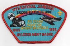 1993 National Jamboree, Aviation MB Staff JSP, Red Brd., Mint!