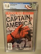 Captain America #25 CGC 9.6 NM+ Death of Captain America Custom Cap Label!