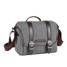 K&F Concept DSLR Camera Case and Lens Casual Should Bag fr Canon Sony Nikon Grey