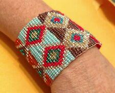 Beaded Bracelet Handmade One of a kind Beads Stunning Native American Art Ladies