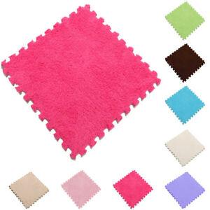 DIY Soft Velveteen Plush Fluffy Fur Carpet Shaggy Area Rug Bedroom Floor Mat Pad