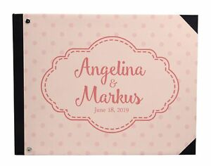 Wedding Guestbook Hardbound Cover Anniversary Wedding Guest Registry-DSPGB-113A