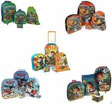 New Disney Kids Favourite Character 4pc Luggage Set Wallet Backpack Trainer Bag