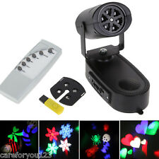 Mini LED Moving Head Spot RGB Stage Lighting Gobo Club DJ Party Light MP3 Player