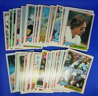 1981 Topps Football LOT of 54 w/ 50 unique Fouts Franco Ham Plunkett Youngblood