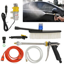 Portable 12V 100W High Pressure Car Sprayer Washer Cleaner Wash Water Pump Set