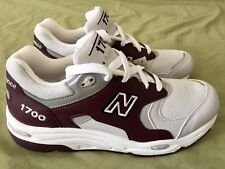 New Balance 1700 Heritage Made In USA Maroon Gray 3M Reflective M1700CHT Sz 7.5