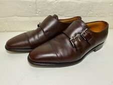 John Lobb DERWENT Double Monk Strap Buckle Leather Shoes, UK 7.5E Very Good