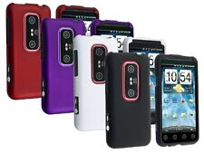 4-pack Hard Rubberized Case for HTC Evo 3D - Red, Purple, White, Black