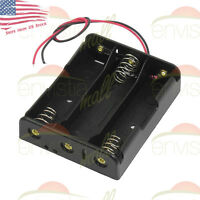 """3S Battery Holder Case Clip Box  for 3X 18650 12V Li-Ion with 6"""" Wire Leads USA"""