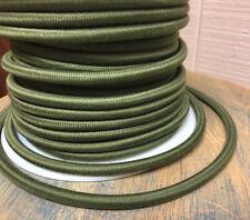 Algodón Verde Paño Cubierto 3-wire Cordón redondo, Vintage Colgante Luces ,