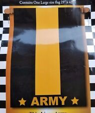 """New listing Army Thin Line Decorative Flag Large 29"""" X 42"""" Double Sided Magnolia Garden"""