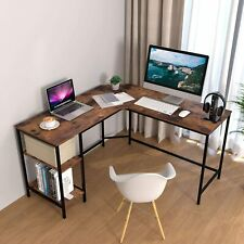 L-Shaped Table L Desk Study Work Gaming Office Computer Corner Industrial Modern