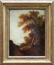 OLD MASTER BRITISH PASTORAL LANDSCAPE c THOMAS GAINSBOROUGH OIL PAINTING ART