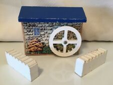 Thomas Train Gristmill With Waterwheel Water Wheel & Fence Wooden Britt Allcroft