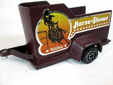 Vintage 1979 Tonka Horse Shows brown plastic trailer