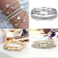 Women Bracelet Sets Fashion Crystal Lucky Star Bangle High Quality Brand Jewelry