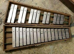 Vintage Leedy Mfg. Co.~  Xylophone (Glockenspiel Orchestra Bells) with Wood Case