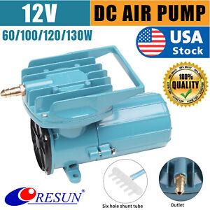 Air Pump Aerator Oxygen Inflator DC12V 60/130W 140LPM Aquarium Fish Tank Pond