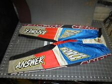 ANSWER RIDING PANTS SIZE 24 NOS 1 QTY  MOTORCYCLE RIDING APPAREL FREE SHIPPING