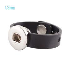 Button Click Ring nur für 12mm Mini Clicks Buttons - verstellbar Silikon schwarz