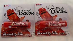 Taste Beauty The Taste Squad Lip Gloss Creamy Cute Maple Bacon Flavored Lot Of 2