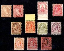 TURKS & CAICOS ISLANDS 1887-1913 MINT STAMPS VALUES TO THREE SHILLINGS