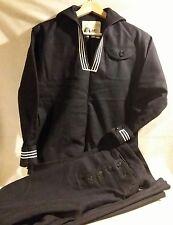 "WWII Era Naval Wool ""Cracker Jack"" Uniform Shirt with 13 Button Bell Bottom Pant"