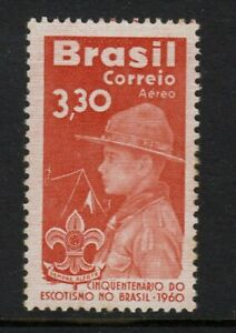 BRAZIL 1960  50th. Anniversary of Scouting in Brazil.  MNH