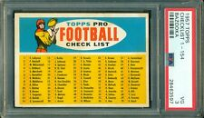 1957 Topps Football Checklist - Bazooka ** PSA 3 ** Unmarked & Well Centered !