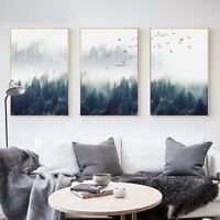 Canvas Prints Nordic Forest Landscape Art Decorative Painting Poster Wall Decor