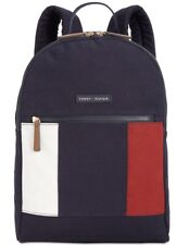 NWT TOMMY HILFIGER WOMENS ICONIC FLAG PRINT CANVAS BACKPACK 🎒🎒🎒
