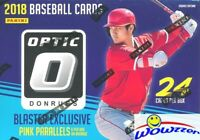 2018 Donruss Optic Baseball EXCLUSIVE Factory Sealed Blaster Box-6 PINK PRIZM !