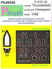 P-47D-25 Thunderbolt PITTURA Maschera per kit Hasegawa #48046 1/48 pmask