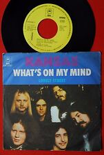 """KANSAS WHAT'S ON MY MIND/LONELY STREET 1977 RARE EXYU 7""""PS"""