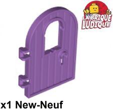 Lego 1x Door Porte 1x4x6 4 round bois wood arrondi Keyhole md lavender 64390 NEW