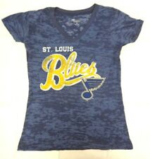 St. Louis Blues Women's G-III 4her Medium All Star Burnout Tee Shirt