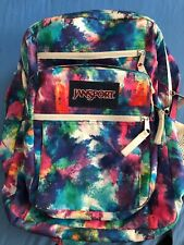 Jansport Big Student Large Rainbow Tie Dye Backpack School Bag Luggage Girl Boy