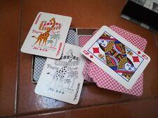 vecchi mazzi di carte POKER con relativa custodia vintage --