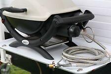 Stainless Steel Weber Q to LPG gas bottle POL hose,  3m