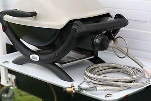 SS Weber Q to LPG gas bottle POL hose for weber Q inc. regulator, 3m free post
