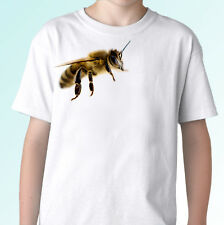 Bee white t shirt insect animal tee top design - mens womens kids baby sizes