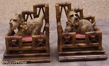 Bookends Animal Dog Scotties in a Bed Pair Book Ends NEW