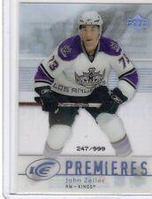 2007-08 UPPER DECK ICE PREMIERES JOHN ZEILER #182  247/999