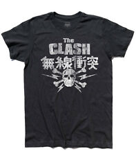 T-shirt uomo the CLASH Japan Skull Bones teschio London Calling punk Strummer