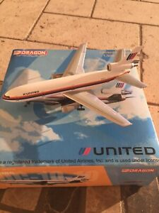 United Airlines DC-10 1:400 Scale Dragon Jet-X Saul Bass