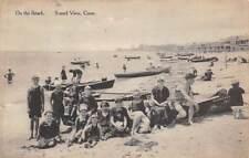 SOUND VIEW, CT ~ BEACH SCENE ~ used 1916