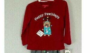 Macy's Family PJs Pajama Top Happy Pawlidays Small S 6/7 shirt only 6 7