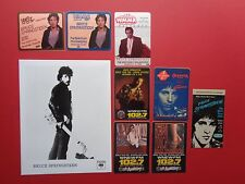 BRUCE SPRINGSTEEN,Promo Photo,8 Original commemorative Radio passes,