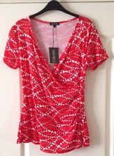 🌞🌹BNWT BEAUTIFUL CROSSOVER STYLE CASUAL EASY WEAR TOP SIZE 12 🌹🌞